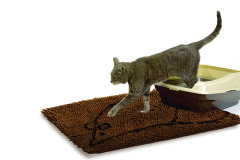 cat little mat, cat mat, brown mat
