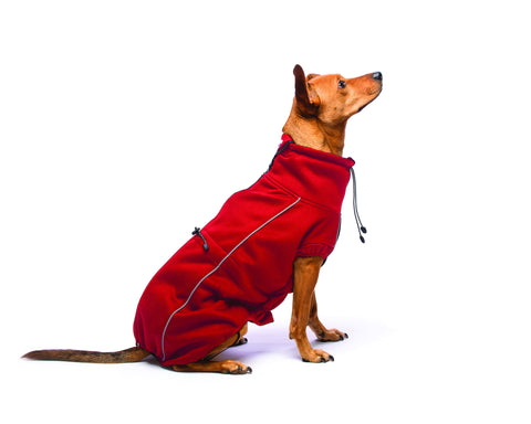 olympia dog jacket, nano dog jacket, repelz-it, repelzit, sporty dog jacket, red dog jacket