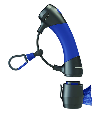 dog leash holder system, i'm gismo, dog walking gear, midnight blue gismo, poop bag dispenser, walking dog with one hand