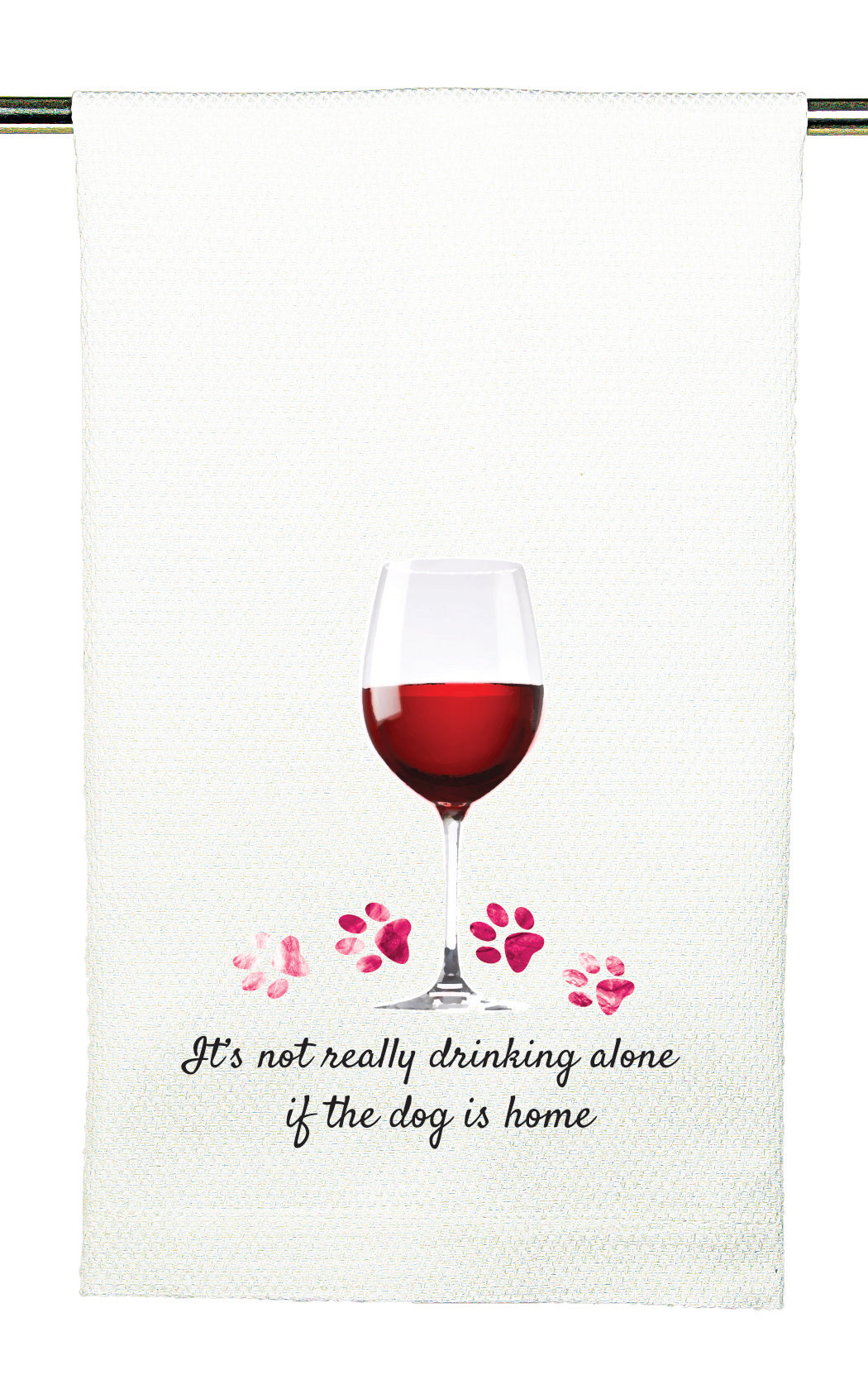 Huck Towel by Mariasch Studios: It's Not Really Drinking Alone