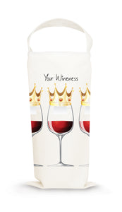 Wine Gift Tote by Mariasch Studios: Your Wineness