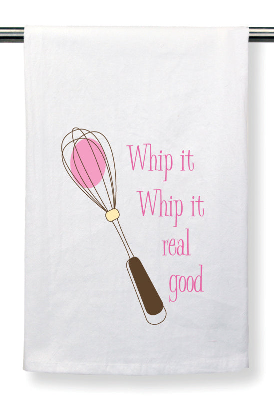Flour Sack Towel by Mariasch Studios: Whip It Whip It Real Good