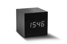 Load image into Gallery viewer, CUBE CLICK CLOCK / WHITE LED by Gingko - BLACK