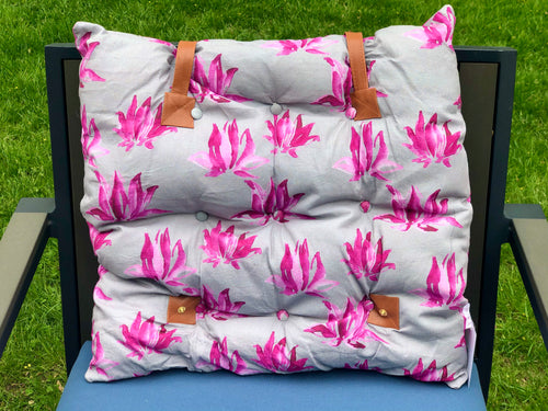 Multi-Purpose Cushion - 119 Grey/Pink Flower