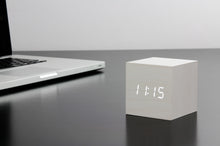 Load image into Gallery viewer, CUBE CLICK CLOCK / WHITE LED by Gingko - WHITE