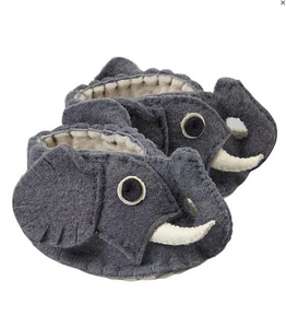 Zooties Infant Shoe -  Gray Elephant