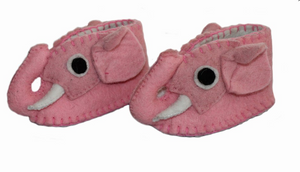 Zooties Infant Shoe - Pink Elephant