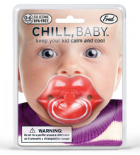 Load image into Gallery viewer, Chill, Baby -  Lips Pacifier by Fred