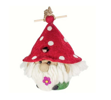 Load image into Gallery viewer, HANDMADE BIRDHOUSE: Garden Gnome by dZi Handmade Designs