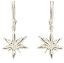 Load image into Gallery viewer, Catherine Weitzman: MINI STAR ANISE EARRINGS in SILVER