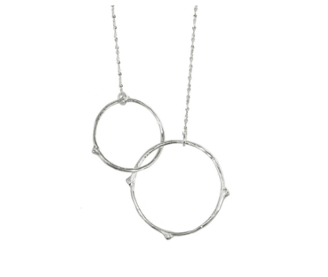 Catherine Weitzman: INTERLOCKING BRANCHES NECKLACE in SILVER