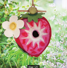 Load image into Gallery viewer, HANDMADE BIRDHOUSE: Strawberry by dZi Handmade Designs