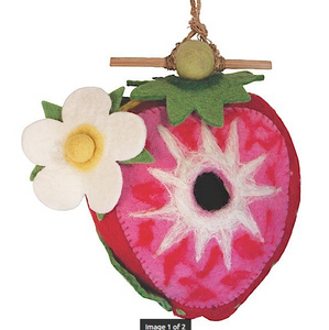 HANDMADE BIRDHOUSE: Strawberry by dZi Handmade Designs