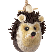 Load image into Gallery viewer, HANDMADE BIRDHOUSE: Hedgehog by dZi Handmade Designs
