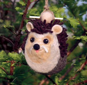 HANDMADE BIRDHOUSE: Hedgehog by dZi Handmade Designs