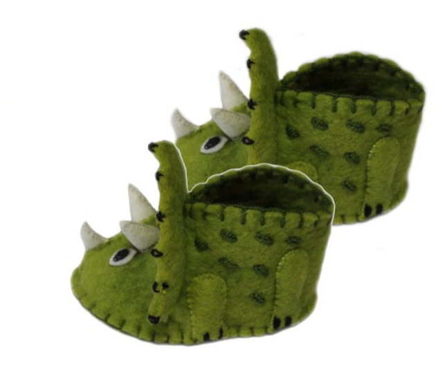 Zooties Infant Shoe -  Baby Triceratops