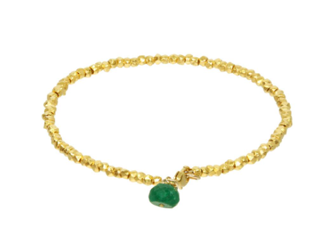 Catherine Weitzman: RONDELLE BEADED BRACELET in 18K Gold Vermeil