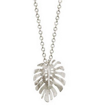 Load image into Gallery viewer, Catherine Weitzman: SMALL MONSTERA NECKLACE in SILVER