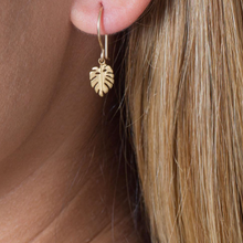 Load image into Gallery viewer, Catherine Weitzman: MINI MONSTERA EARRINGS in SILVER
