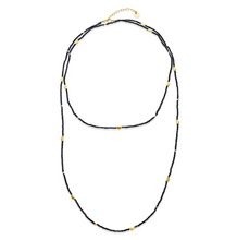 Load image into Gallery viewer, Mabel Chong: HALF MOON LONG STRAND NECKLACE in PYRITE