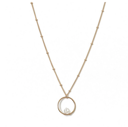 Kozakh: BALAN DIAMOND NECKLACE in 14K GOLD FILLED