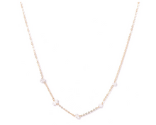 Load image into Gallery viewer, Kozakh: CINQ HERKIMER NECKLACE in 14K GOLD FILLED
