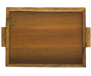 Reclaimed Wood Tray Rectangular Large