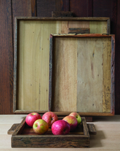 Load image into Gallery viewer, Reclaimed Wood Tray Rectangular Large