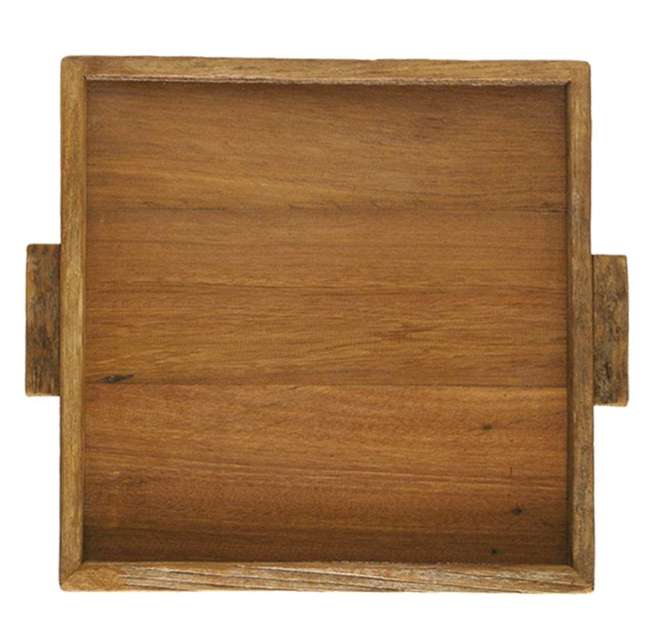 Reclaimed Wood Tray Square, Small