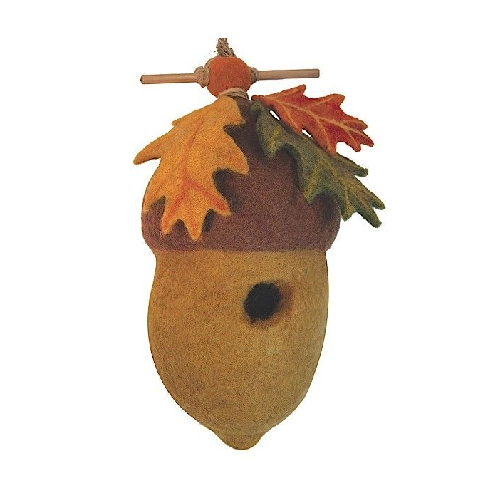 HANDMADE BIRDHOUSE: Pin Oak Acorn by dZi Handmade Designs