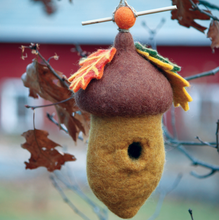 Load image into Gallery viewer, HANDMADE BIRDHOUSE: Pin Oak Acorn by dZi Handmade Designs