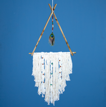 Load image into Gallery viewer, Handmade Dreamcatcher: Peacock Teepee
