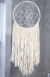 Handmade Dreamcatcher: FLOWER OF LIFE