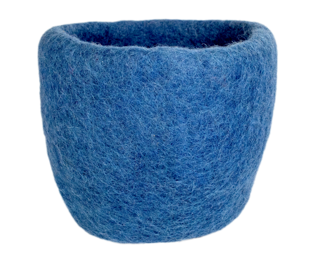 FELT PLANTER: Denim
