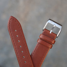 Load image into Gallery viewer, Fully Stitched Vintage Style Calfskin Strap - Brown