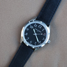 Load image into Gallery viewer, Fully Stitched Vintage Style Calfskin Strap - Black