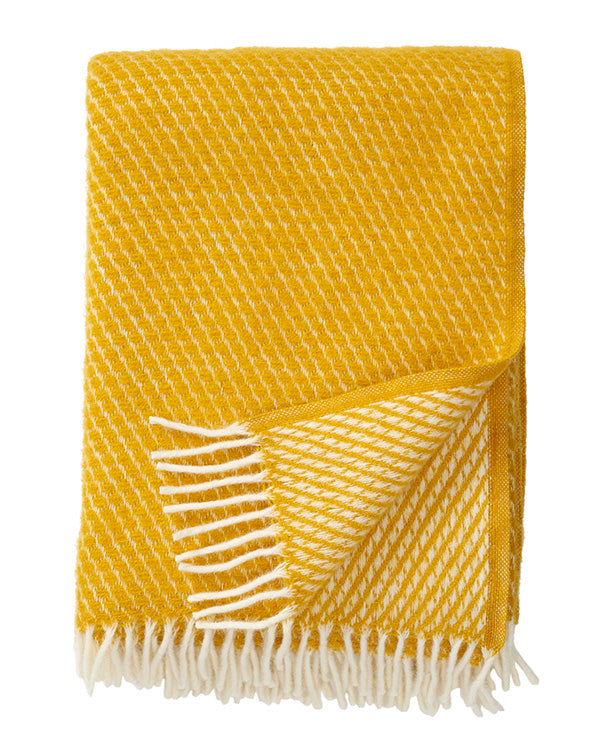 KLIPPAN 100% LAMBSWOOL HONEYCOMB BLANKET (4 COLOURS)
