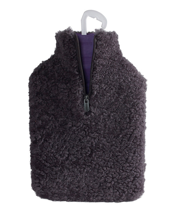 SHEPHERD OF SWEDEN SHEEPSKIN HOT WATER BOTTLE COVER CHARCOAL GREY