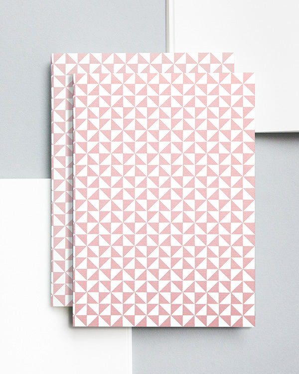 OLA LAYFLAT PINK A5 NOTEBOOK WITH BLANK PAGES
