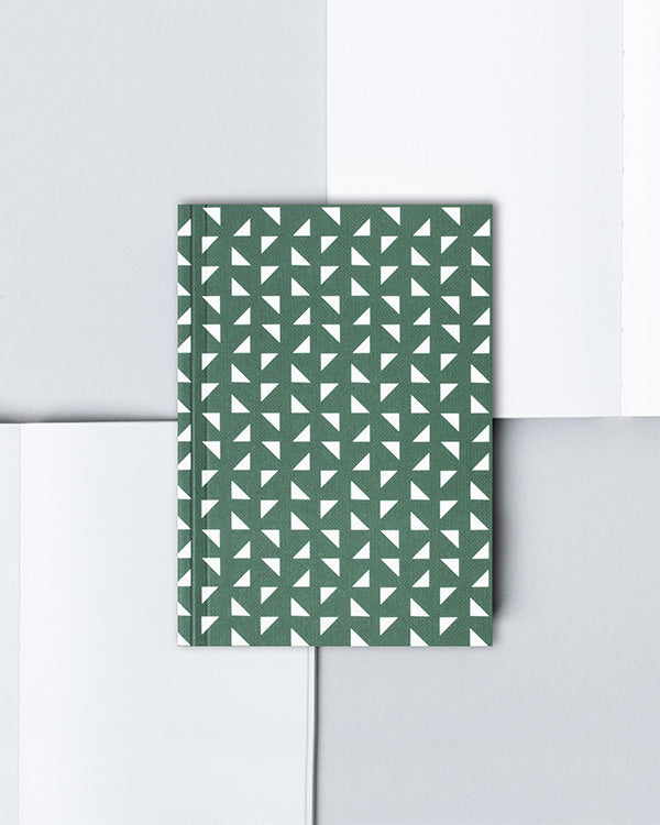 OLA FOREST GREEN A6 POCKET NOTEBOOK WITH BLANK PAGES