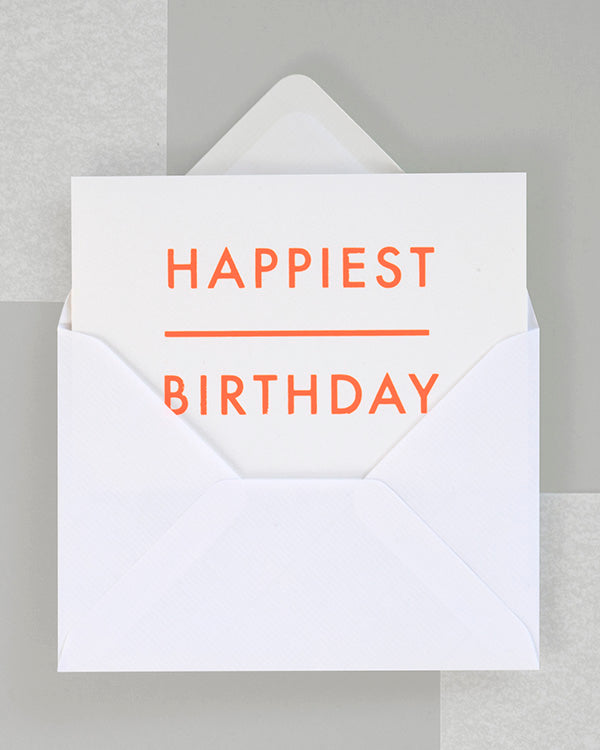 OLA FOIL BLOCKED HAPPIEST BIRTHDAY CARD