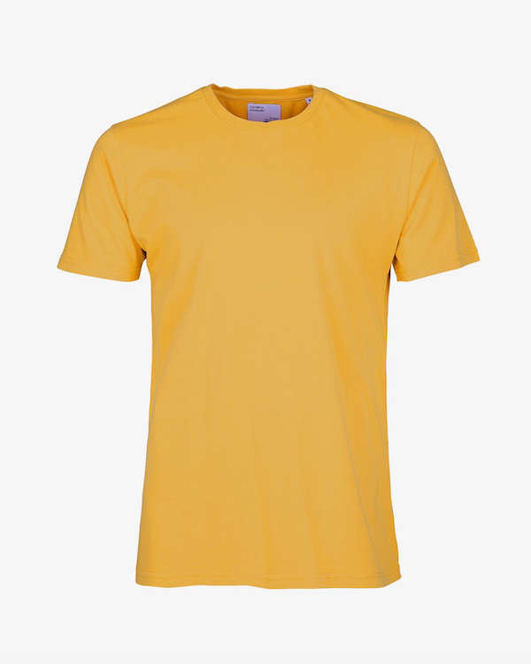 COLORFUL STANDARD MENS ORGANIC T-SHIRT BURNED YELLOW