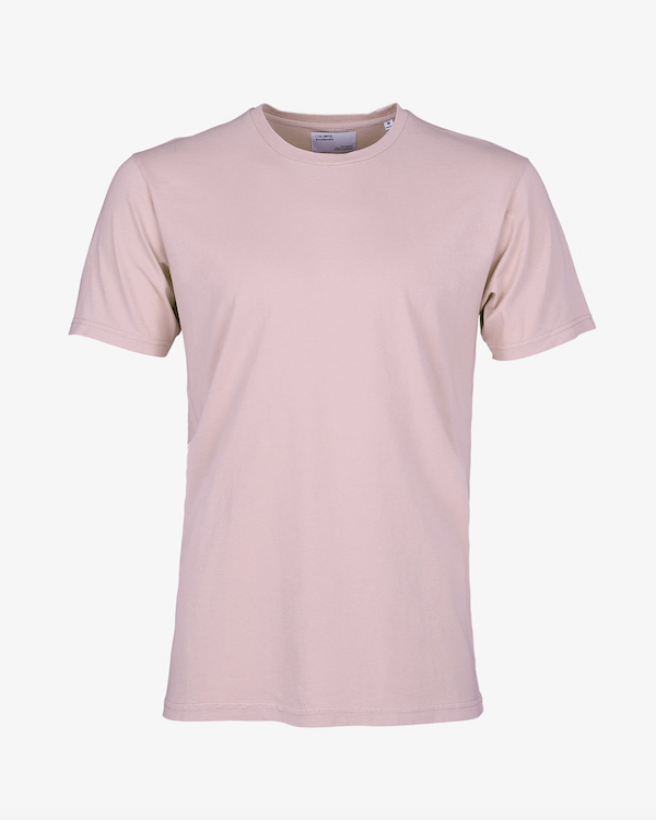 COLORFUL STANDARD MENS ORGANIC T-SHIRT FADED PINK