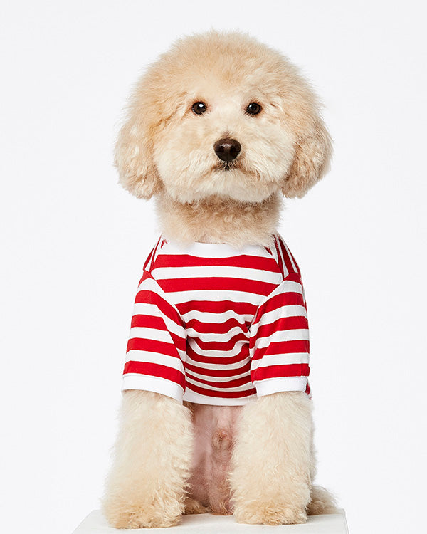 THE PAINTERS WIFE STRIPED 'DAVID' RED T-SHIRT