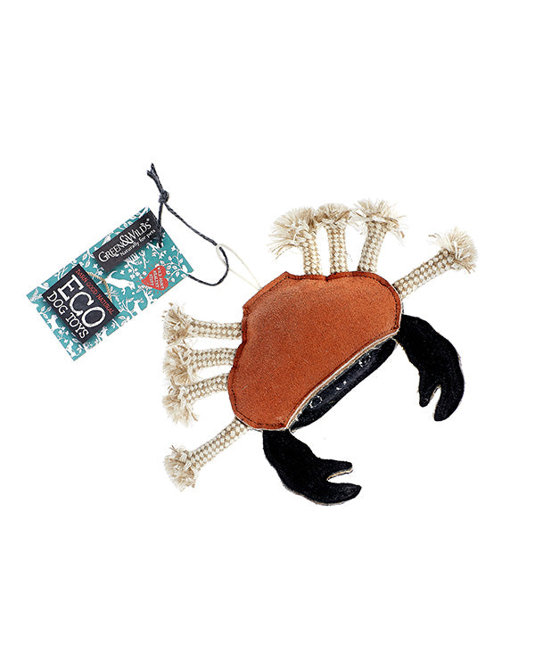GREEN & WILD'S CARLOS THE CRAB ECO DOG TOY