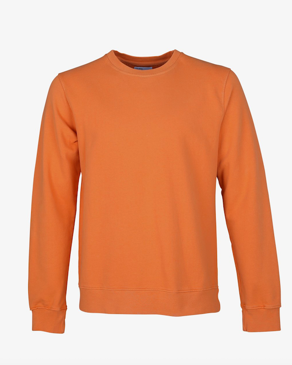 Colorful Standard organic crew sweatshirt burnt orange