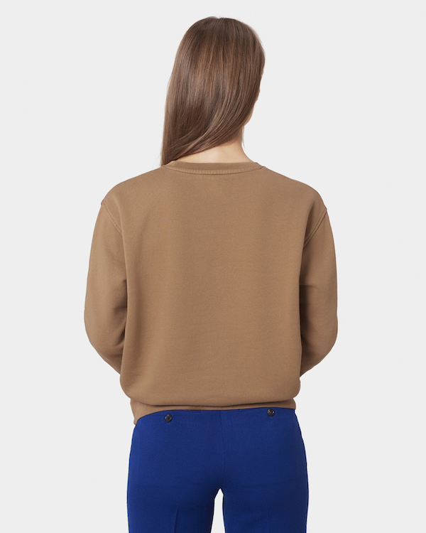 Colorful Standard Women's Sweatshirt Sahara Camel back