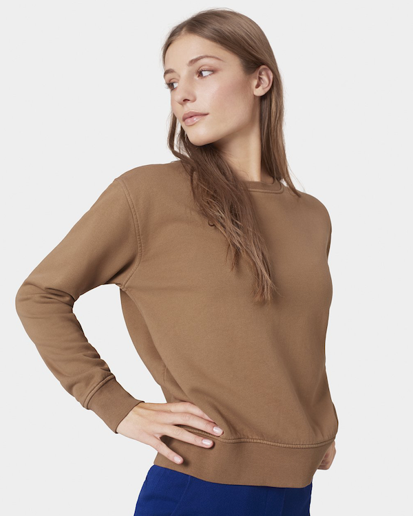Colorful Standard Women's Sweatshirt Sahara Camel front