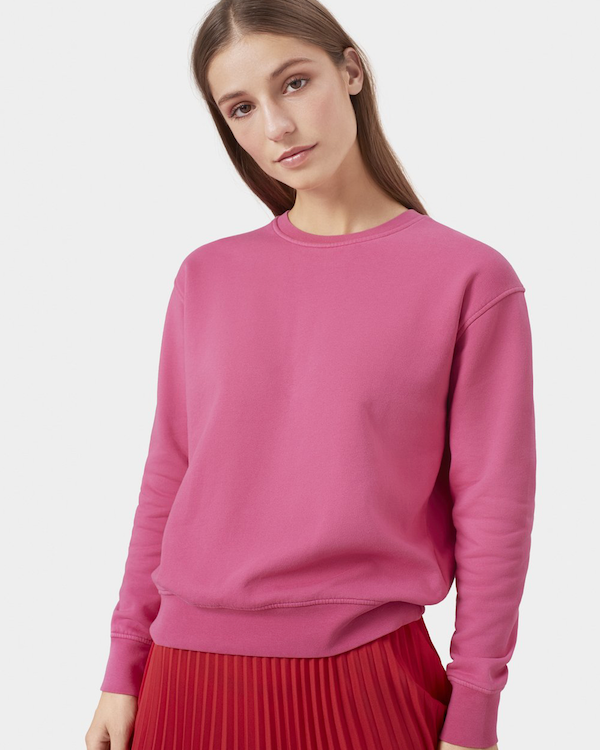 Colorful Standard Women's Sweatshirt Bubblegum Pink front