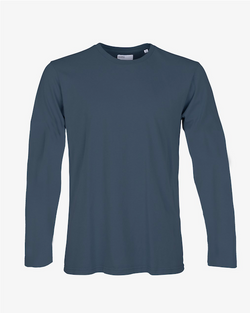 Colorful Standard Men's Long Sleeve T-Shirt Petrol Blue